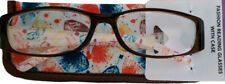 New! Foster Grant Simply Specs Leaf Brown 1.50 Reading Glasses W/Soft Case.