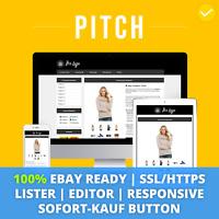 PITCH BLACK eBay Template 2019 Responsive Ebayvorlage Auktionsvorlage SSL/HTTPS