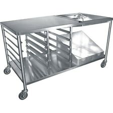 "Heavy Duty Stainless Steel Donut Table 34""x66""x36"" ;H free 1 Glazing Dipper Dn-Tbl"