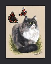 Ragdoll-Ragamuffin Cat Print Disintrested by I Garmashova