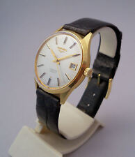 LONGINES CONQUEST AUTOMATICO IN ORO 18 KT VINTAGE '70 SELFWIND GOLD WRIST WATCH
