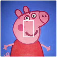 PEPPA PIG - LIGHT SWITCH STICKER / COVER / VINYL - KIDS BEDROOM
