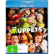 THE MUPPETS - BRAND NEW & SEALED DISNEY BLU RAY + DVD (JASON SEGEL, AMY ADAMS)