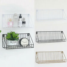 Industrial Metal Shelf Unit Wire Floating Shelve Home Wall Mounted Storage Rack*