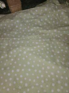 New Pottery Barn Teen GREEN 84 L Dottie Sheer Panel Curtain kids 44x84 polka dot
