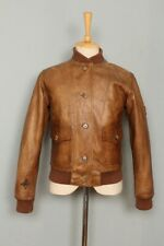 BELSTAFF Aviator A-1 USAAF Military Sports Motorcycle Leather Jacket XSmall