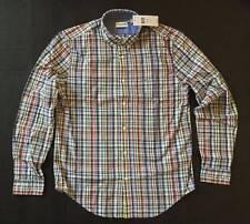 LACOSTE Button Front Shirt Plaid Check Men Size M / EUR 40 GENUINE NEW