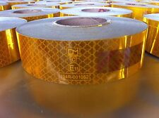 30 Rolls 50m x 50mm Roll Yellow Conspicuity Tape ECE104 HGV Truck Trailer