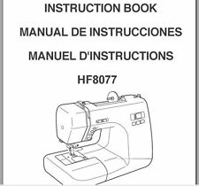 Janome HF 8077 Sewing Machine Instruction Manual Users Guide PDF on CD