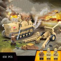 450pcs Militär Kanone Gepanzertes Fahrzeug Modell Bausteine mit Soldat Figuren