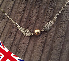 Golden snitch Necklace - Quidditch - Harry Potter - Pendant - UK Gift