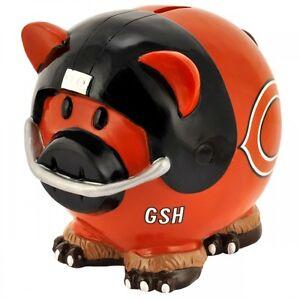 NFL Chicago Bears Piggy Bank Thematic Money Box