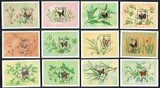Bhutan Butterflies 12 Miniature Sheets MNH SG#MS850 MI#Block 237-248