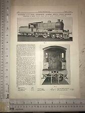 Standard Locomotive: Eastern Bengal Railway: 1912 Engineering Magazine Print