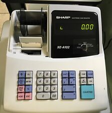 SHARP XE-A102 CASH REGISTER with Key no Drawer