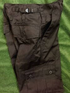 """Kids All Black Military Trouser and Waistcoat 11-12 years 26"""" Waist Army Combat"""