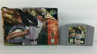 N64 MAJOR LEAGUE BASEBALL Ken Griffey Jr Nintendo 64 Retro Baseball Video Game!