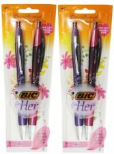 4 X BIC 4 RETRACTABLE MEDIUM POINT BIC FOR HER PEN 100% Brand New