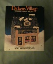 Dickens Village Ceramic Candle Holder