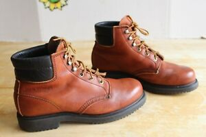 Vintage Red Wing 1607 Women's Work SuperSole Boots Brown Leather US Size 8 B USA