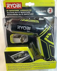 RYOBI HP44L 4V LITHIUM 200/600 RPM QUICKTURN SCREWDRIVER W/CHARGER WITH BITS