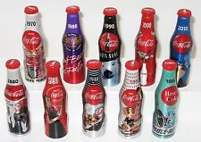 "*Miniature 3"" Set of 10  2015 Aluminum 100th Anniversary Coca Cola Bottle Mini"