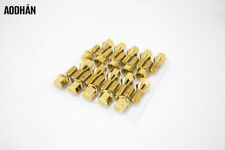 14X1.25 GOLD Aodhan LB55 28MM Lug Bolts FITS BMW F32 428 435 F10 528 535 550 I