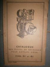 BERNARD : Catalogue pièces moteurs diesel 31 et 41 1961