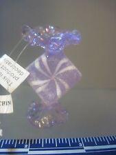 SILVESTRI GLASS ORNAMENT PURPLE CHRISTMAS CANDY
