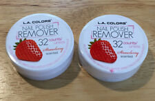 2 LA Color Nail Polish Remover Strawberry Sented 32 Count Ea.