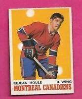 1970-71 OPC # 174 CANADIENS REJEAN HOULE ROOKIE VG CARD (INV# D2024)
