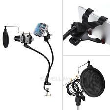 Microphone Suspension Boom Scissor Arm Stand w/Shock Mount for Studio Broadcast