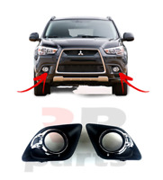 FOR MITSUBISHI ASX 2010 - 2012 NEW FRONT BUMPER FOG LIGHT GRILLE PAIR SET