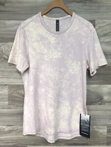 NWT Lululemon 5 Year Basic Tee-  Size Small, Cloudy Wash Misty Pink CWMP **