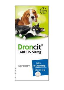 Tapeworm Tablet Cat & Dog, Droncit Worming Capsules,  DeWormer Pills, Pet Gloves