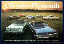 Prospekt brochure 1973 Chrysler Plymouth Barracuda * Road Runner * Imperial USA
