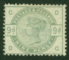 SG 195 WI 9d dull green. Watermark sideways & inverted. Fine mounted mint...