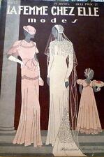 VTG 1930s PARIS SEWING PATTERN MAGAZINE LA FEMME CHEZ ELLE 1933 *PARIS DESIGNERS
