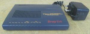 Draytek Vigor 2600 Plus 4 Port ADSL 54Mbps Router & Firewall AC Adapter Included