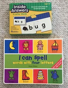 i  Can Spell Words 4 Letters Bk Inside Answers 3 Letters Words Interactive Card