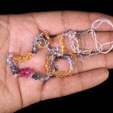 287 Pcs Natural Sapphire Briolettes Finest Multi-Color Drilled Gems Sri Lanka