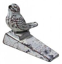 Rustic Shabby Cream Cast Iron Bird ~ Sparrow ~ Door Stop ~ Stopper ~ Home Decor