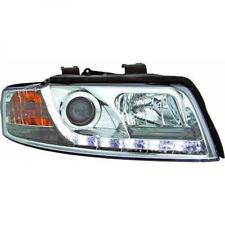 Proyector LED DRL Faros LHD Par De Cromo Transparente Para Audi A4 Avant 8E 00-04