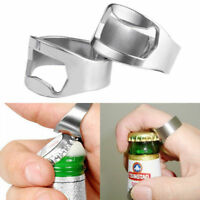5x Finger Thumb Ring Bottle Opener Stainless Steel Silver Party Bar Beer Tool US