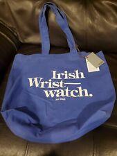 Jack Spade Irish Wrist Watch Large Blue Tote Bag