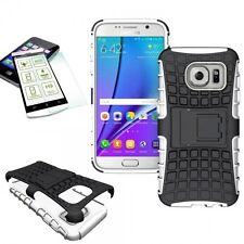 Hibrido Funda Estuche 2 Piezas Blanco para Samsung Galaxy S7 G930 G930F+H9