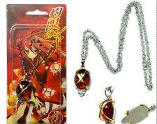 Anime Shakugan no Shana Red Crystal Cosplay Pendant Necklace