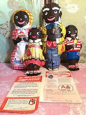 BLK AMERICAN AUNT JEMIMA MOSE WADE DIANA PREMIUM DOLL SET + S&P SYRUP COUPON AD