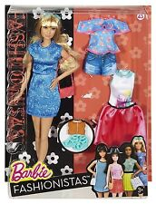 Muñeca Barbie Fashionistas 43 Lacey Azul & Fashions-Tall