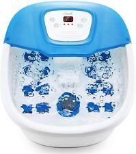 Entil Foot Spa Bath Massager with Heat Bubbles Vibration F-BATH-77 Blue